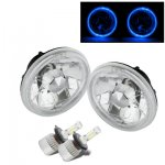 1971 Oldsmobile Custom Cruiser Blue Halo LED Headlights Conversion Kit High Beams