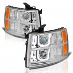Chevy Silverado 2007-2013 LED DRL Projector Headlights