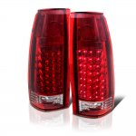 GMC Sierra 2500 1988-1998 LED Tail Lights Red Clear