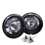 1973 Dodge Pickup Truck Black Chrome LED Projector Headlights Kit