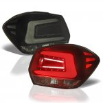 Subaru Impreza Hatchback 2012-2016 Black Smoked LED Tail Lights