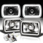 Jeep Wrangler YJ 1987-1995 Halo Tube Black Chrome LED Headlights Kit