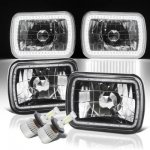 Dodge Ram Van 1988-1993 SMD Halo Black Chrome LED Headlights Kit