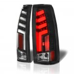 GMC Sierra 2500 1988-1998 Black Tube LED Tail Lights