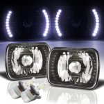 Jeep Wrangler YJ 1987-1995 LED Black Chrome LED Headlights Kit