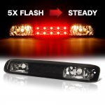 GMC Sierra 2500HD 2001-2006 Black Smoked Flash LED Third Brake Light