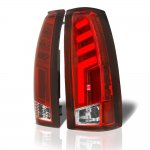 1989 Chevy Silverado Tube LED Tail Lights Red