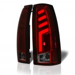 GMC Sierra 3500 1988-1998 Tinted Tube LED Tail Lights