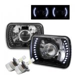 Jeep Wrangler YJ 1987-1995 LED Black Chrome LED Projector Headlights Kit