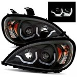 Freightliner Columbia 2000-2015 Black Projector Headlights LED DRL