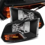 2010 Dodge Ram 3500 Crystal Headlights Black