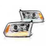 2012 Dodge Ram Projector Headlights Switchback LED DRL Signal Lights