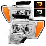 2013 Ford F150 Projector Headlights Switchback LED DRL Signal Lights