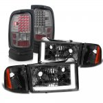 Dodge Ram 1994-2001 Smoked DRL Headlights LED Tail Lights