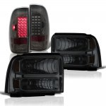 Ford F550 Super Duty 2005-2007 Smoked Headlights LED Tail Lights