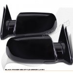 1993 GMC Sierra 2500 Black Powered Side Mirrors