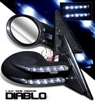 1993 Honda Civic Black Diablo Style Power Side Mirror