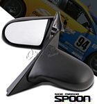 1996 Acura Integra Coupe Black Spoon Style Power Side Mirror