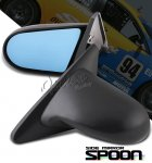 Honda Civic Coupe 1996-2000 Black Spoon Style Blue Len Power Side Mirror