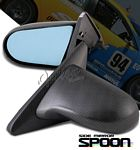 Acura Integra Coupe 1994-2001 Carbon Fiber Cover Spoon Style Blue Len Power Side Mirror