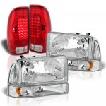 Ford F250 Super Duty 1999-2004 Headlights Set LED Tail Lights