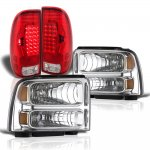 Ford F450 Super Duty 2005-2007 Headlights and LED Tail Lights