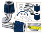 Ford F250 1990-1995 Polished Short Ram Intake with Blue Air Filter