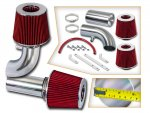 Ford F250 1990-1995 Polished Short Ram Intake with Red Air Filter