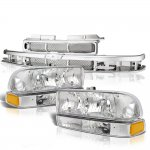 Chevy S10 1998-2004 Chrome Grille and Headlights Set