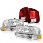 2002 Chevy S10 Headlights Set LED Tail Lights