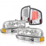 2002 Chevy S10 Headlights Set Clear LED Tail Lights