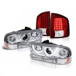 Chevy S10 1998-2004 Halo Projector Headlights Set LED Tail Lights