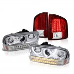 Chevy S10 1998-2004 Halo Projector Headlights LED Bumper Lights and LED Tail Lights