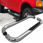 Ford F250 Light Duty 1997-1999 Nerf Bars Stainless Steel