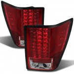 Jeep Grand Cherokee 2007-2010 Red and Clear LED Tail Lights