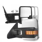 Toyota Sequoia 2008-2019 White Towing Mirrors LED Lights Power Heated