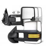 Toyota Sequoia 2008-2019 Chrome Smoked Tube LED Towing Mirrors Power Heated