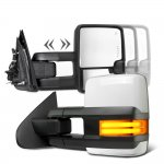 Toyota Sequoia 2008-2020 White Towing Mirrors Tube LED Power Heated