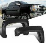 Chevy Silverado 3500HD 2014-2018 Short Bed Fender Flares Pocket Rivet