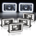 1985 Cadillac Cimarron Black Halo Tube Sealed Beam Headlight Conversion Low and High Beams