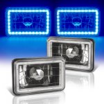 Ford LTD Crown Victoria 1988-1991 Blue LED Halo Black Sealed Beam Headlight Conversion