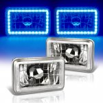 1985 Buick LeSabre Blue LED Halo Sealed Beam Headlight Conversion