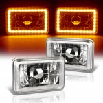 1988 Chevy Blazer Amber LED Halo Sealed Beam Headlight Conversion