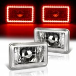 1987 Chevy Cavalier Red LED Halo Sealed Beam Headlight Conversion