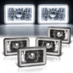 Ford LTD Crown Victoria 1988-1991 LED Halo Black Sealed Beam Headlight Conversion Low and High Beams