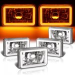 Chevy Celebrity 1982-1986 Amber Halo Tube Sealed Beam Headlight Conversion Low and High Beams