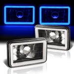 1987 Chevy C10 Pickup Blue Halo Tube Black Sealed Beam Headlight Conversion