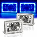 1981 Buick Regal Blue LED Halo Sealed Beam Projector Headlight Conversion