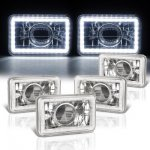 1985 Cadillac Cimarron LED Halo Sealed Beam Projector Headlight Conversion Low and High Beams
