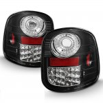 1999 Ford F150 Flareside LED Tail Lights Black